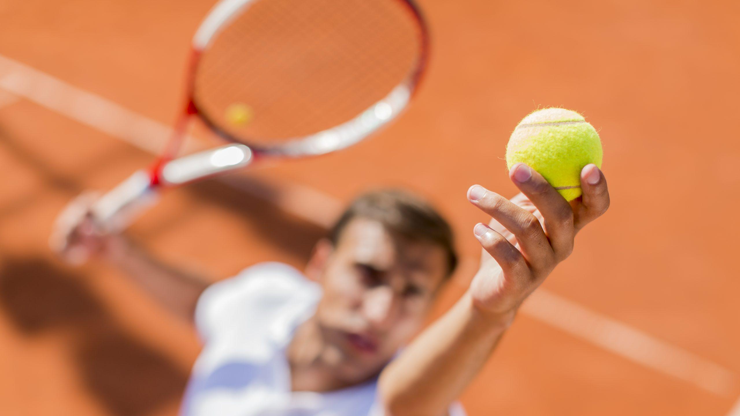 La spalla del tennista